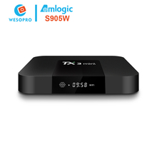 2017 cheapest dvb-s2 set top box satellite receiver software upgrade with amlogic S905W Manufacturer