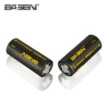 lithium/li-ion battery Basen 4500mAh 3.7V rechargeable battery High Drain 26650 battery