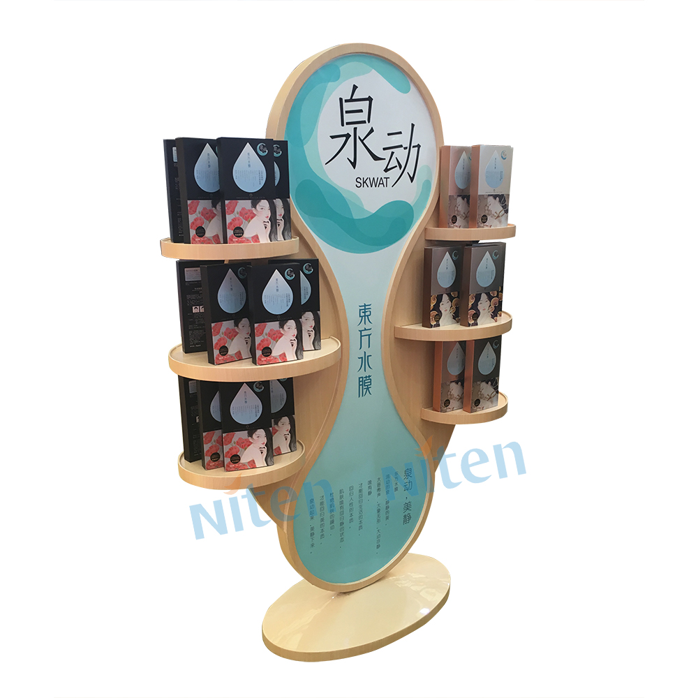 Creative display stand wooden perfume shoes display rack