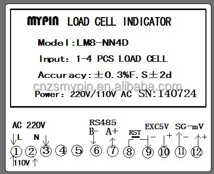 Mypin Truck scale weighing indicator(LM8E-VRND)