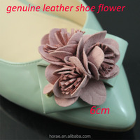 Handmade Shoe Leather Flowers Wholesale Leather