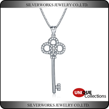 New Design European Style Key Pendant 925 Sterling Silver
