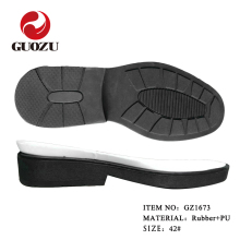 wear-resistant rubber outsole with comfortable EVA midsole