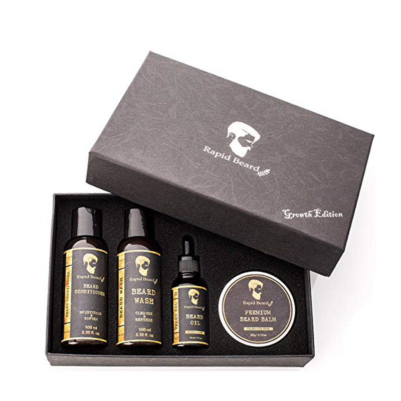 OEM/ODM Private label beard growth <strong>oil</strong> and mustache beard grooming kit for men