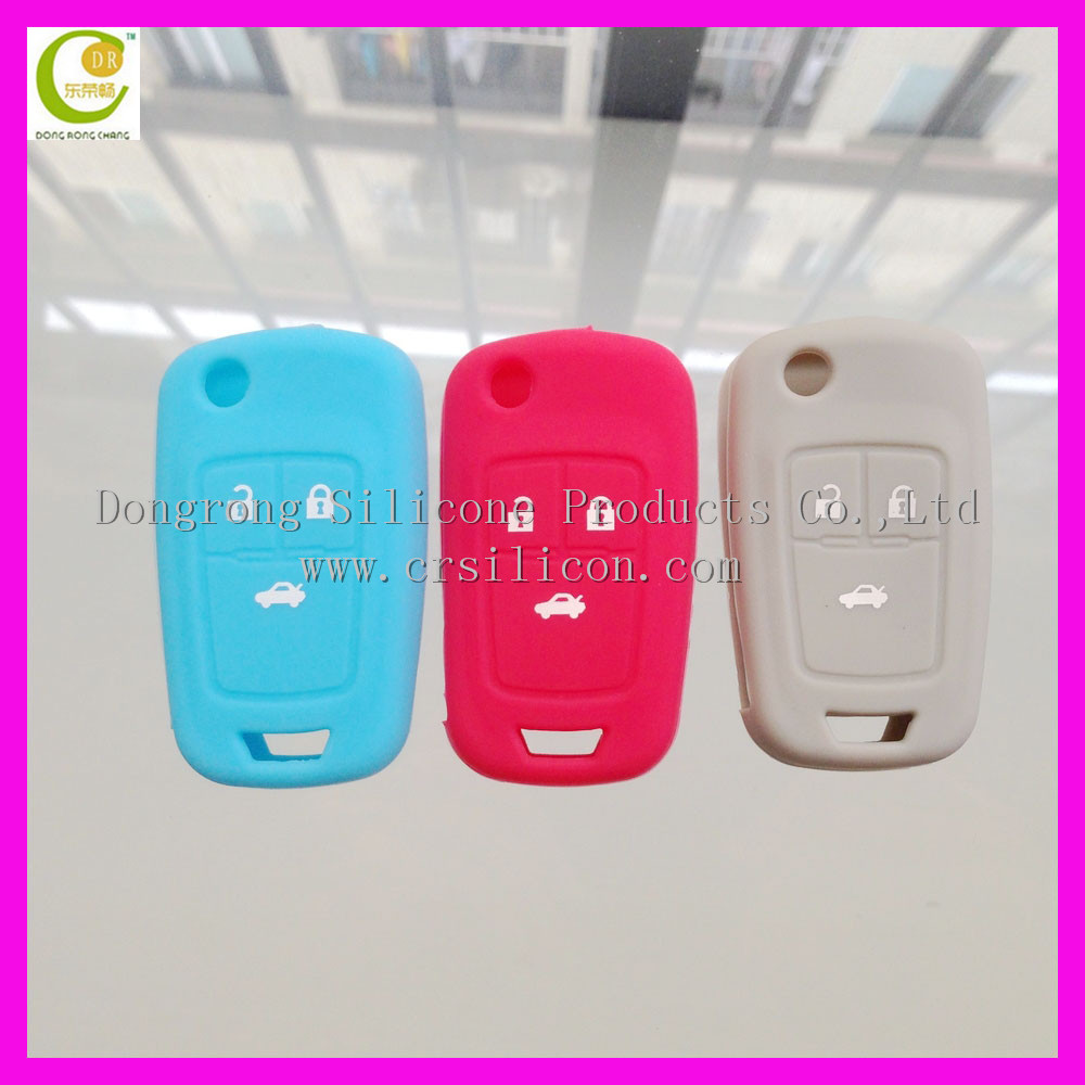 Hot Sale Colorful Silicone Key Cover For Chrysler Keys 3 Button Car Remote Case