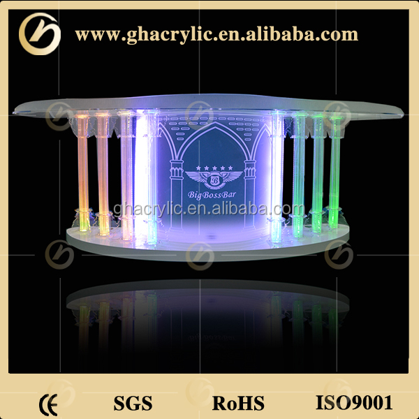 Delicate Acrylic lectern with four crystal columns/ modern acrylic design/crystal church pulpit