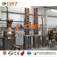 Gold supplier hot sale ethanol equipment Used copper alcohol distiller machine for making high quality vodka, whiskey, alcohol