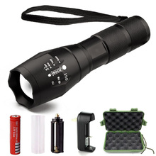 T6 Portable Led Waterproof Diving Swimming Handheld Flashlight Rechargeable Torch light 18650 Tactical Flashlight