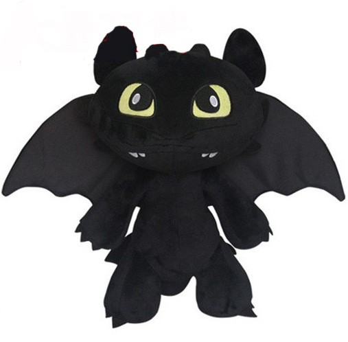 cotton toothless black big eye ragon with wing plush toy wholesale stuffed animals