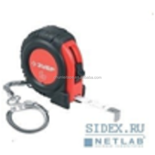 Plastic TAPE-MEASURE rubber-covered with ring for keys 1m* 6mm