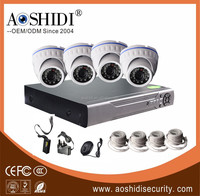 4CH Channel DVR Home CCTV Outdoor/indoor 1.3 megapixel ahd camera dvr kit