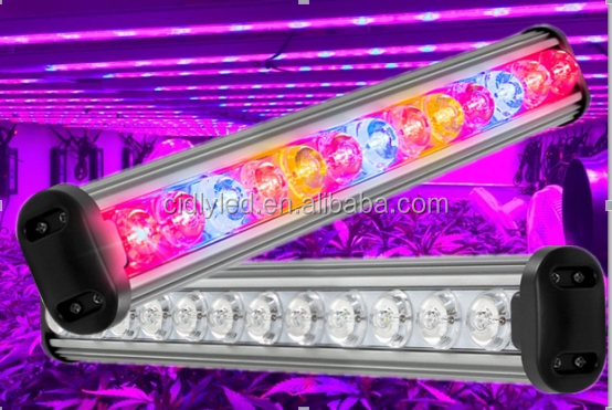 2016 indoor plants CIDLY LED grow light bar No fans no noise best item to replace T5 , T8 and HPS grow lights