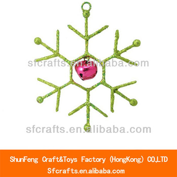 New! 9.5 cm Metal Christmas decoration with bell