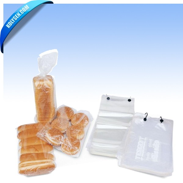 Plastic Wicketed Bread Bag with Printing