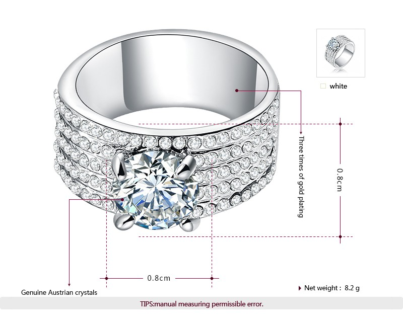 Latest steel silver big stone jewelry ring crystal diamond drill bit engagement ring designs for women