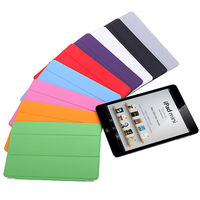 For iPad Mini & Mini 2 Magnetic Smart Cover PU Leather Front Hard Back Case - Ultra thin