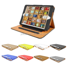 High Quality Tan Tablet Leather Case For Ipad mini 4 with Sleep Wake