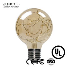 bee eye led moving head light copper wire lamp filament bulb light G80 2w 160lm lighting