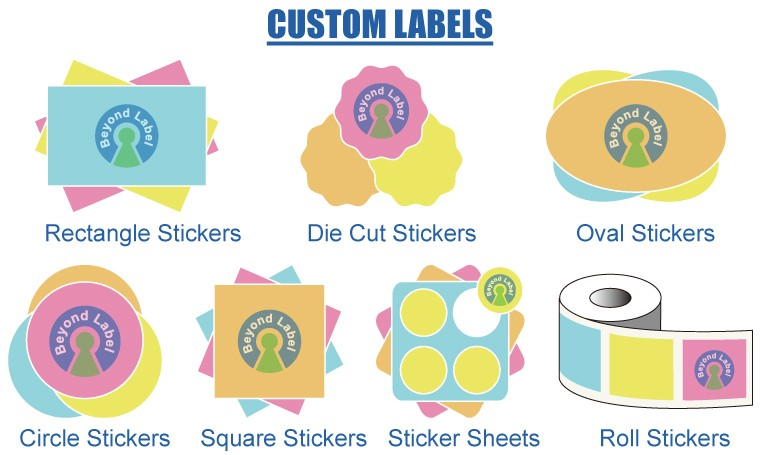Custom Logo Printed Glass Juice Bottle Label Drink Private Sticker