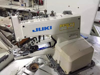 JAPAN ORIGINAL BRAND USED JUKI 1377 BUTTON-STITCHING INDUSTRIAL SEWING MACHINE