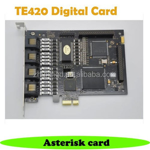 TE420 PCI Express Digital Asterisk card 4 port PRI E1 card T1 card