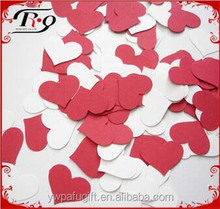 white and red heart shaped wedding party confetti