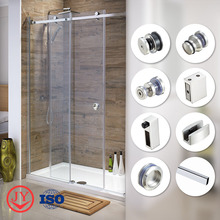 Tempered Glass frameless shower cabin frameless screen glass sliding shower door