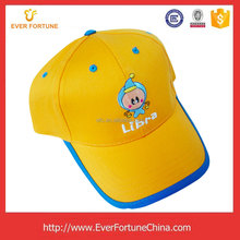 High quality custom logo 6 panel 3D embroidery child cotton baseball cap