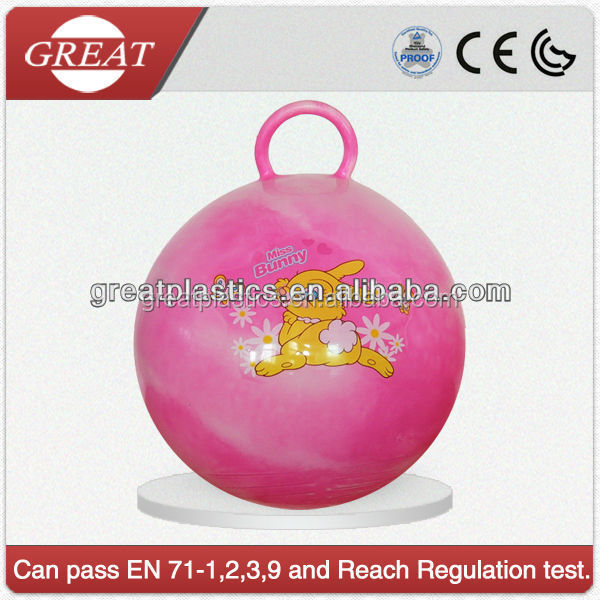 PVC soft inflatable with round Handle Toy jumping Ball