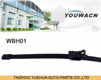 Heated rear wiper arm and blade windshields for cars