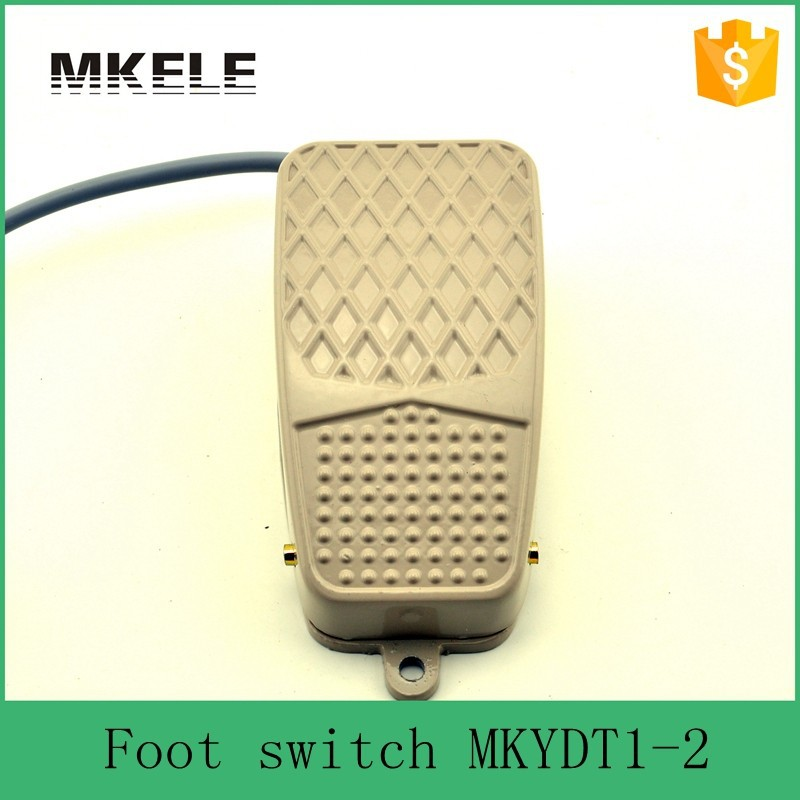 MKYDT1-2 ABS iron electronic wireless waterproof momentary contact push button foot switch foot control switch