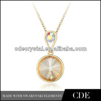 2014 Fashion Crystal Football Pendant Necklace