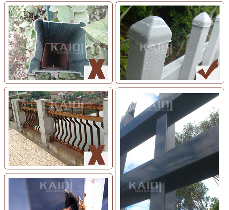Powder Coated Solid Australian Style Garden Security Fence