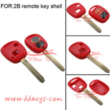 Remote car key shell key case 2 buttons in red for Toyota(Various colors)