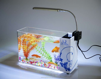 Rectangle acrylic glass for aquarium with lights