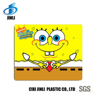 Cute cartoon logo cloth rubber mouse pad for home and office