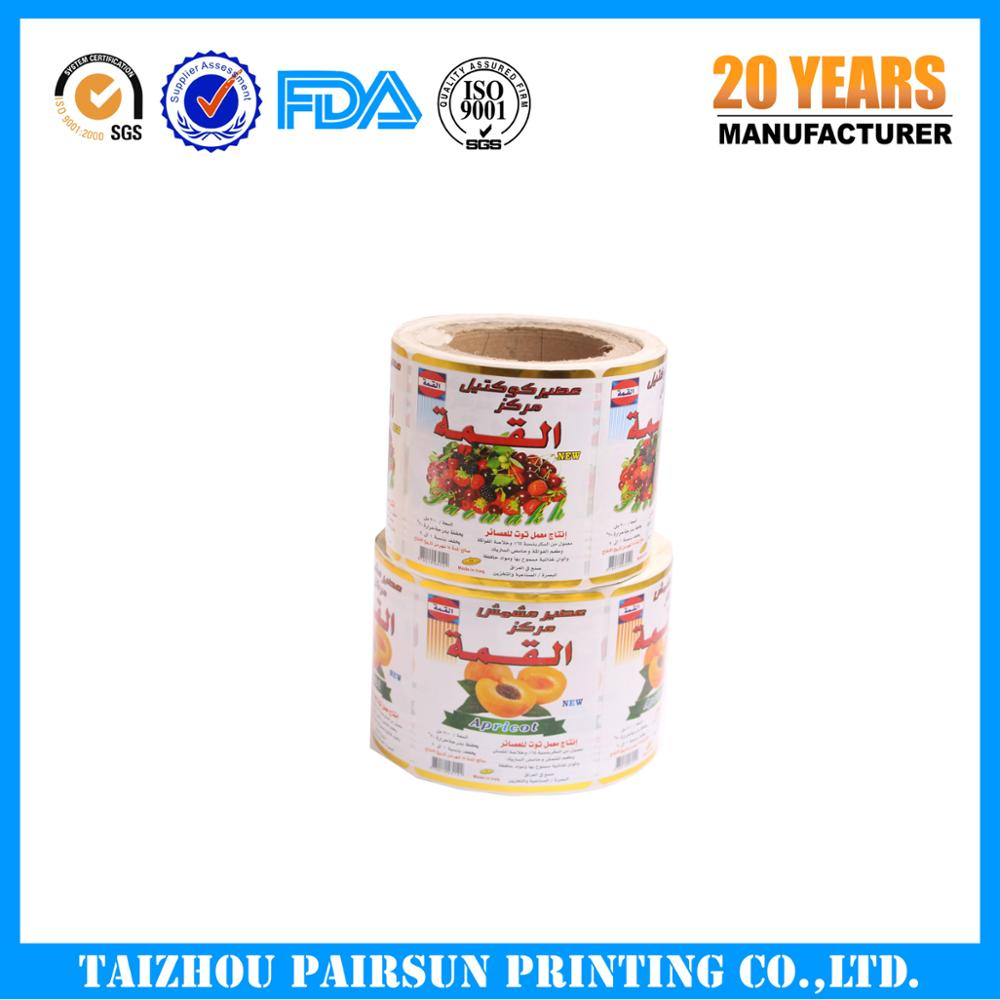 Huangyan high qulity adhesive label sticker