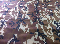 cotton ripstop polyester blend woodland camouflage fabric 200gsm,tela de camuflaje