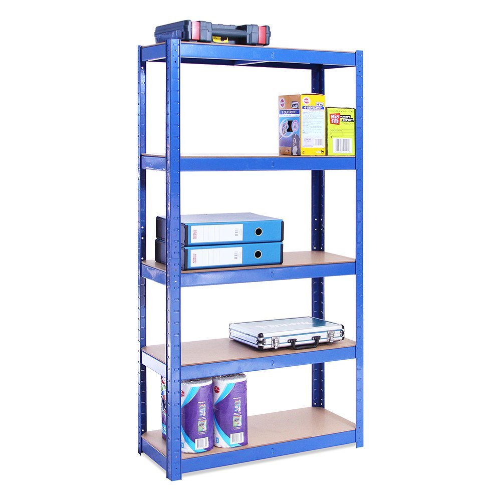 180 x 90 x 45 cm DIY boltless garage storage shelving warehouse racking metal shelf <strong>rack</strong>