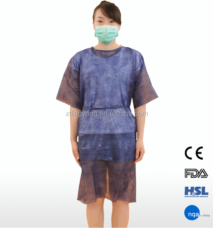 Dark Blue Polypropylene Medical Hospital Gowns for Sales