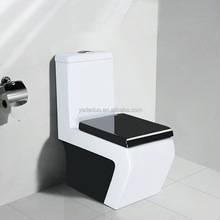 Whole sale black toilet cover porcelain colored closestool school siphonic water closet for commercial construction bathroom