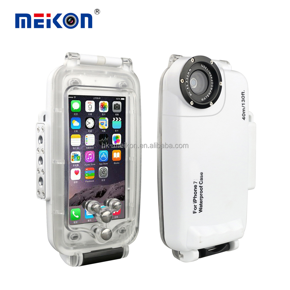 wholesale price waterproof shockproof Meikon 40M cell <strong>phone</strong> case for iphone 7 for swimming