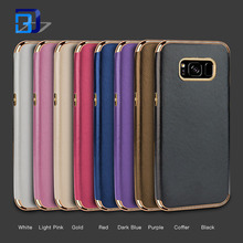 Luxury leather wallet case factory price ultra thin tpu pu back cover for samsung s8 case