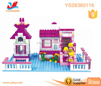 Household little girls model toy building blocks
