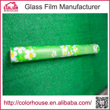 wood veneer self adhesive paper glass pvc window film
