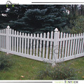Fentech Vinyl Scallopped Picket Fence