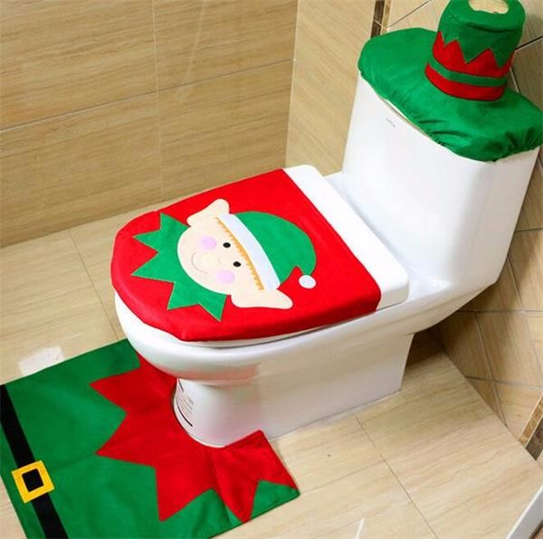 2015 Alibaba Fancy Christmas Santa Toilet Seat Cover And Rug Set Buy Christ