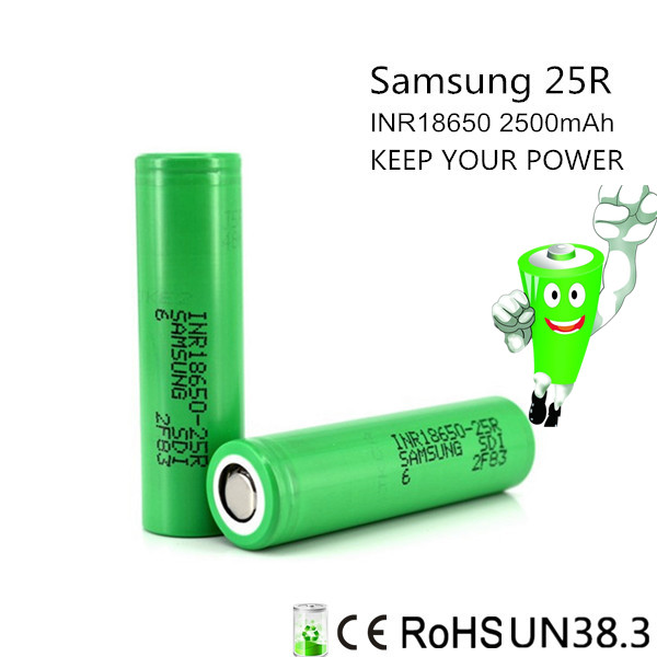 Philippines best selling inr 25r 18650 2500mah sdi batteries battery inr18650-25r samsung inr18650-25r
