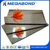 Megabond golden acp sheet,gold and silver mirror aluminum composite panel acp sheet