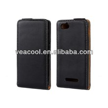 Flip Real Leather Case Cover Pouch for Sony Xperia M C1904 C1905 Case